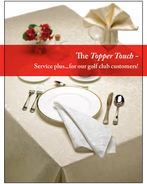 Golf Club customers Brochure - Topper Linen and Uniform Company