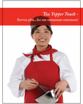 Restaurant Service Brochure by - Topper Linen and Uniform Company