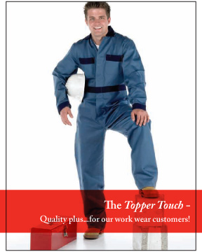 Work Wear Uniform Brochure - Topper Linen and Uniform Company